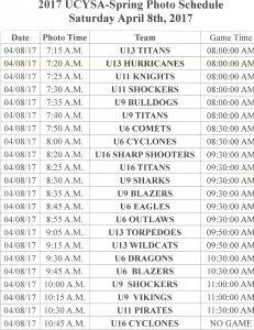 Croft's Schedule